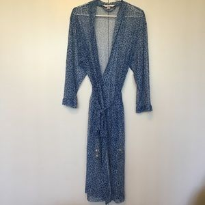 Victoria's Secret Size S Blue Animal Print Robe